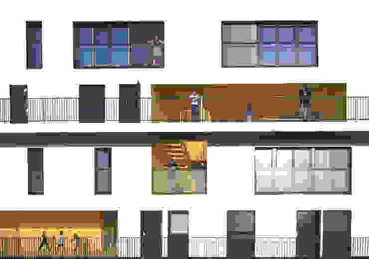02_L'IMMEUBLE HABITE, VUE FRONTALE par sophie delhay architectes