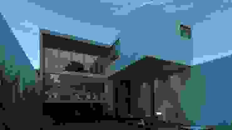 Fachada posterior Casas modernas de TaAG Arquitectura Moderno