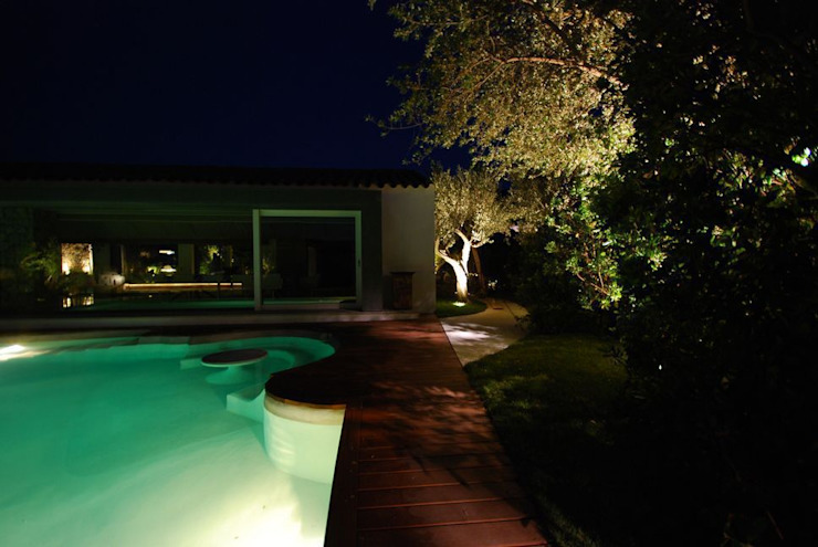 Private Villa in the Emerald Coast Modern Houses by Cannata&Partners Lighting Design Modern