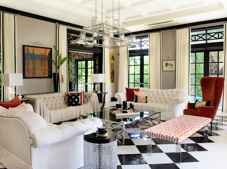 International Prop Award Winner-Best Interior Design Singapore 2013 Colonial style living room by Design Intervention Colonial