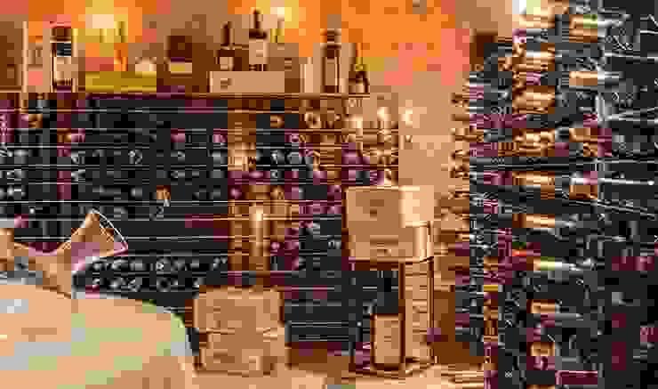 Meuble à vin en acier Esigo 2 Net Esigo SRL Cave à vin Fer / Acier