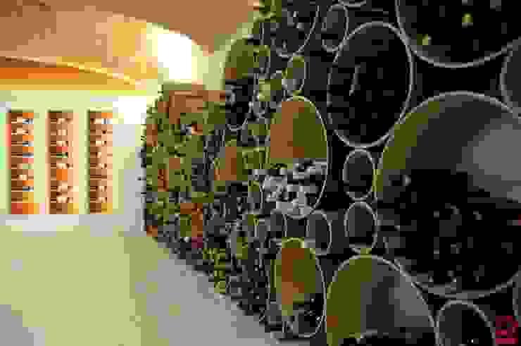 Portabottiglie di design Esigo 8 per arredamento punto vendita vini di Esigo SRL Moderno Carta