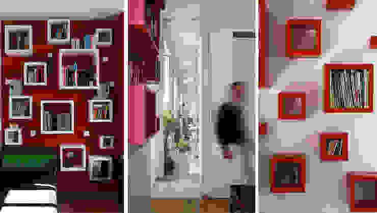 Abitazione con studi professionali Ingresso, Corridoio & Scale in stile moderno di auge architetti Moderno