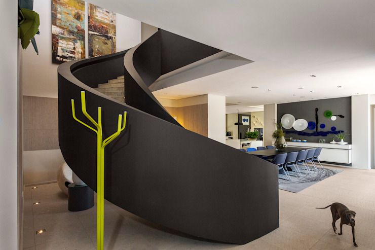 House Shoeman interior Modern Corridor, Hallway and Staircase by C7 architects Modern