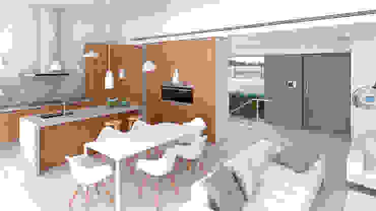 Cozinhas modernas por NUÑO ARQUITECTURA Moderno Madeira Acabamento em madeira