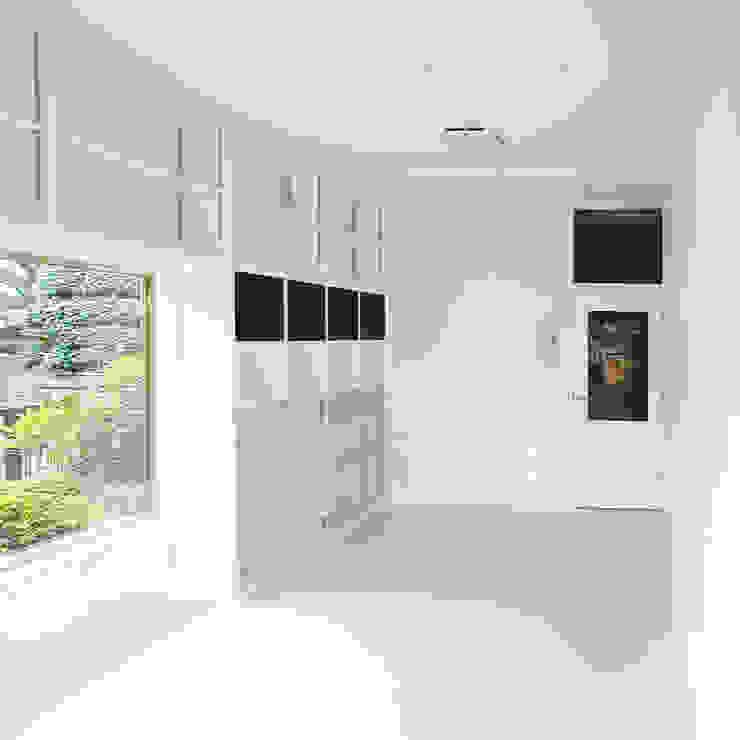 戦前の母屋をリフォーム モダンデザインの ガレージ・物置 の ユミラ建築設計室 モダン