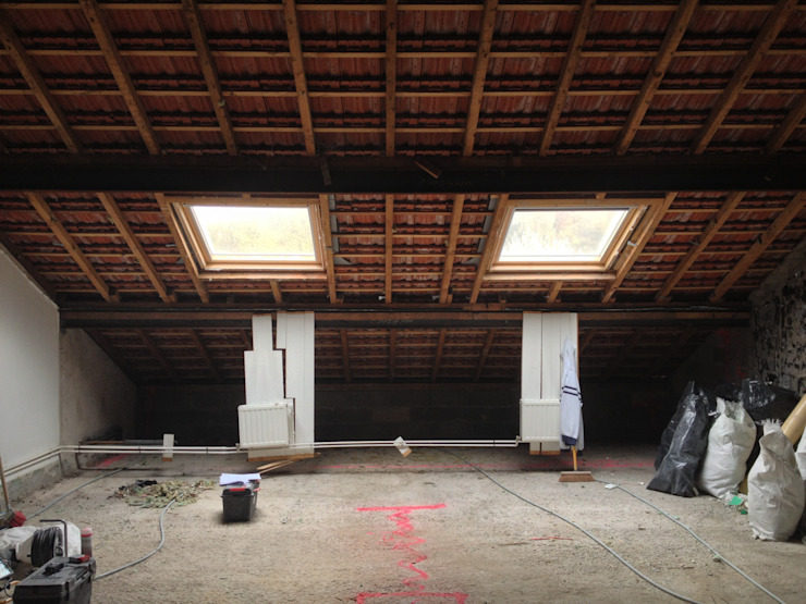Combles existants Chambre moderne par 3B Architecture Moderne