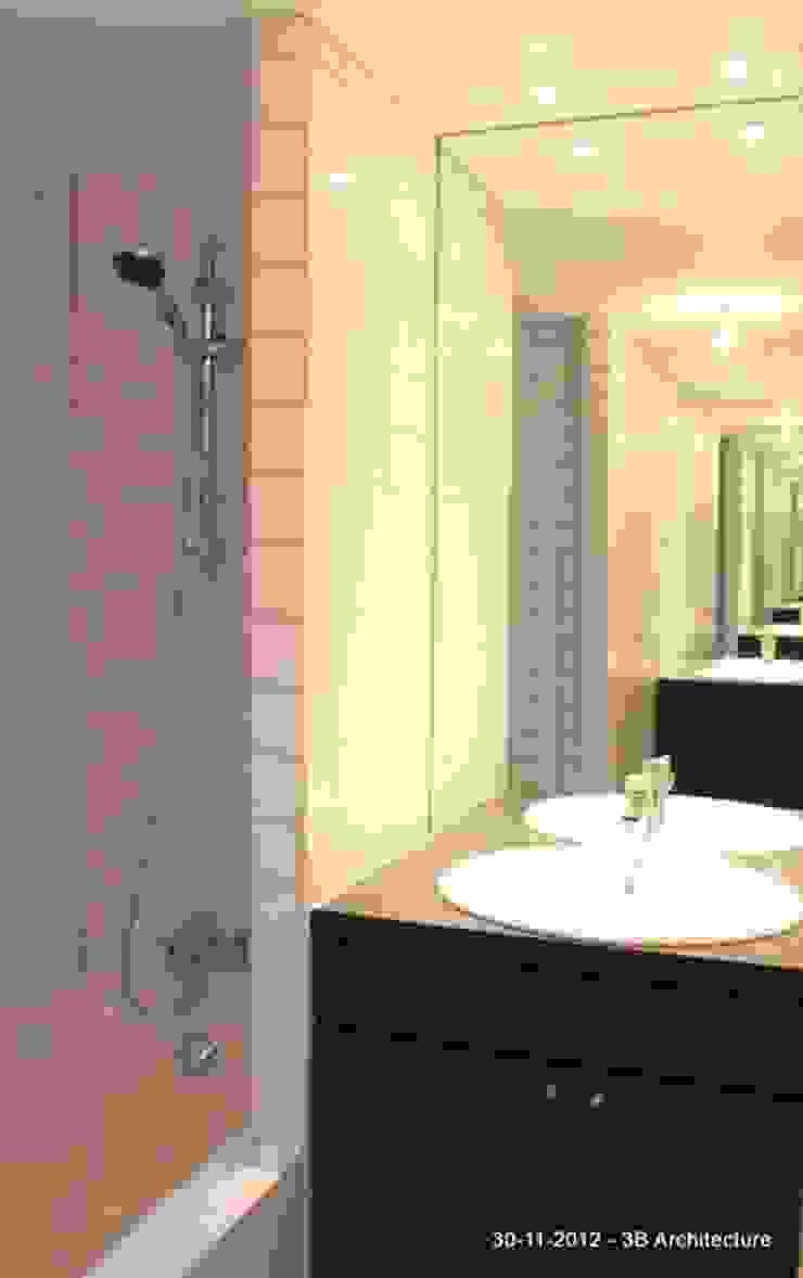 Salle de bains familiale Salle de bain moderne par 3B Architecture Moderne
