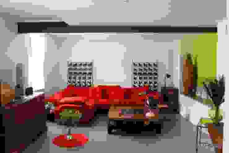 Espace de vie Salon moderne par 3B Architecture Moderne