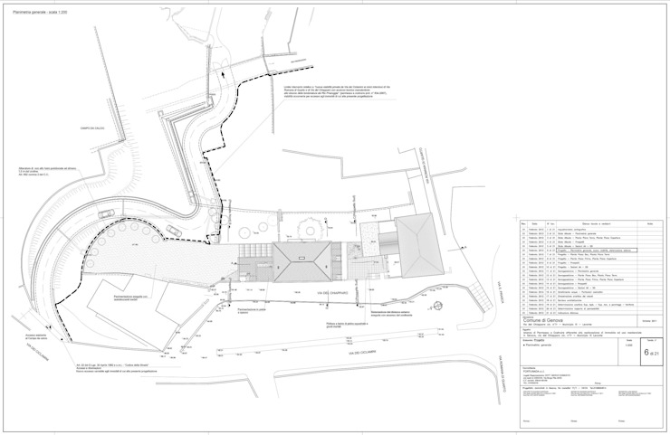 Tav. 6 (Progetto) di Alessio Costanzo Architetto Mediterraneo