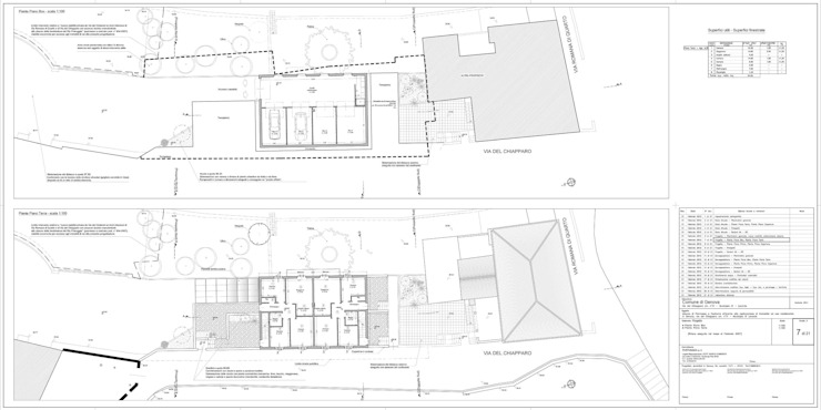 Tav. 7 (Progetto) di Alessio Costanzo Architetto Mediterraneo