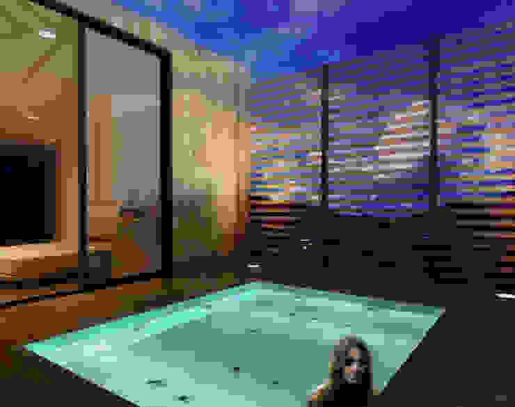 CREEL: HOTEL ECOTURISMO Balcones y terrazas modernos de FACTOR: RECURSO Moderno