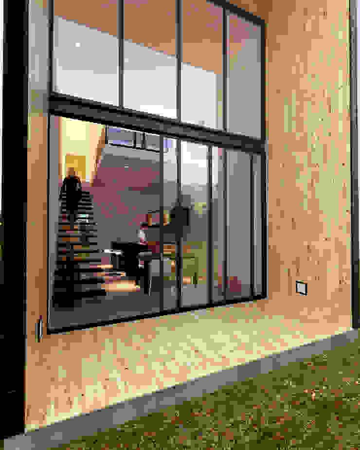 CREEL: HOTEL ECOTURISMO Pasillos, vestíbulos y escaleras modernos de FACTOR: RECURSO Moderno