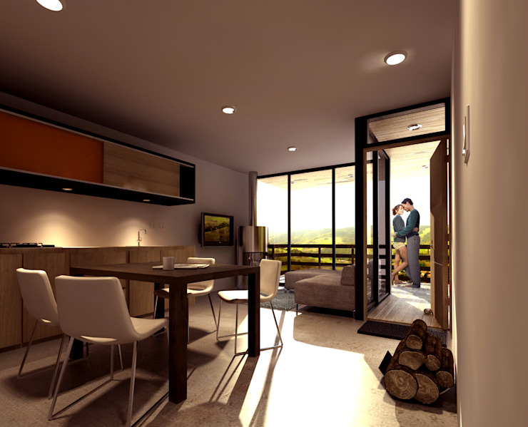 CREEL: HOTEL ECOTURISMO Salones modernos de FACTOR: RECURSO Moderno