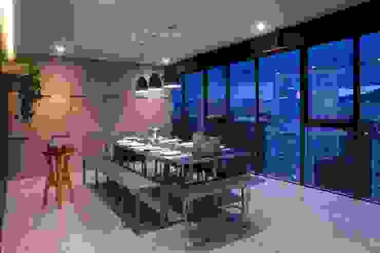 Departamento contemporáneo en Bosques de las Lomas: Comedores de estilo  por Taller David Dana Arquitectura, Moderno