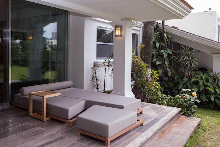 Remodelacion Casa Cuernavaca Balcones y terrazas modernos de Taller David Dana Arquitectura Moderno