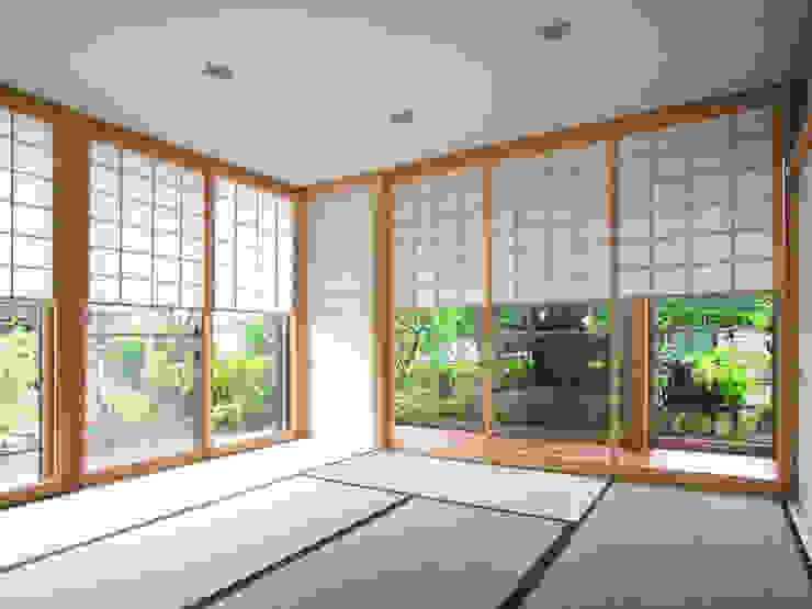 茶室のある家 モダンな 窓&ドア の ユミラ建築設計室 モダン