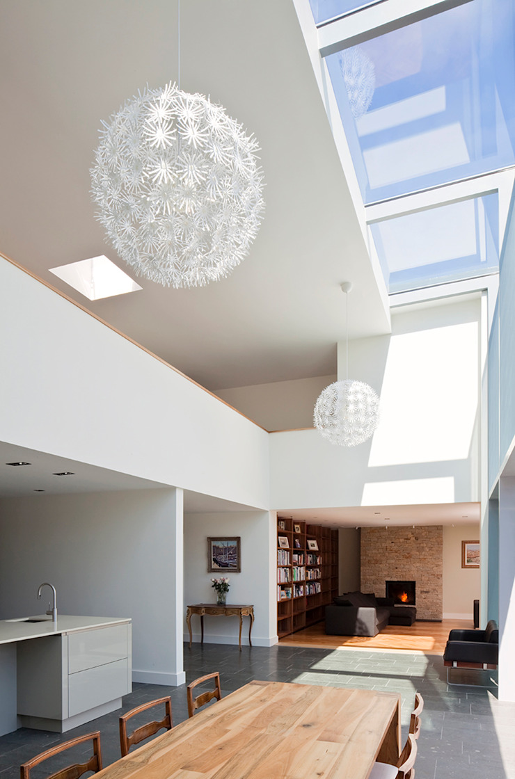 Le Foin Bas Modern corridor, hallway & stairs by JAMIE FALLA ARCHITECTURE Modern