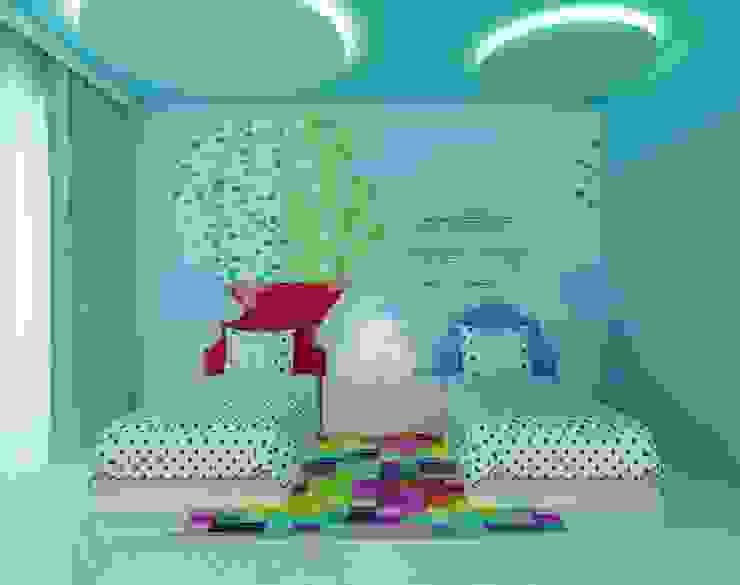 Semi Detached House, Ponderosa Green Minimalist bedroom by Honeywerkz Minimalist