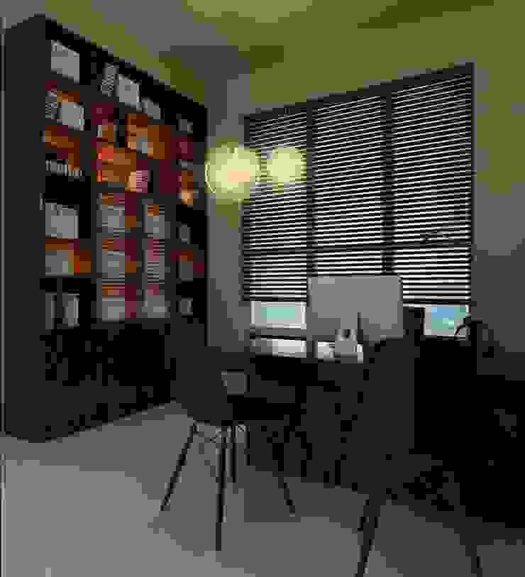 Study Area | Ponderosa Green Minimalist bedroom by Honeywerkz Minimalist