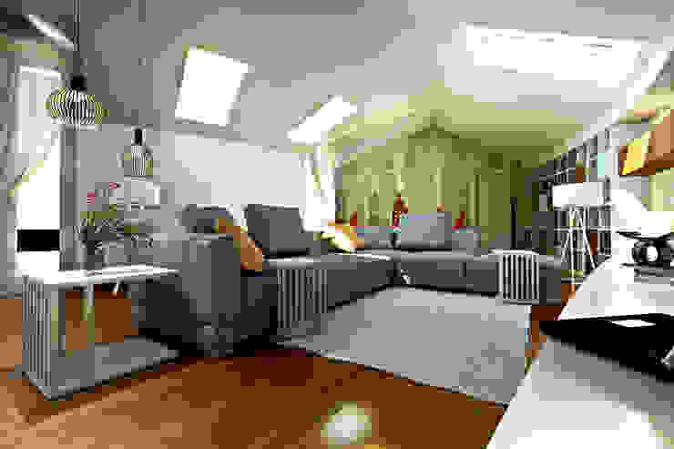 Modellazione di interni Soggiorno Soggiorno moderno di Studio di Architettura Tundo Moderno
