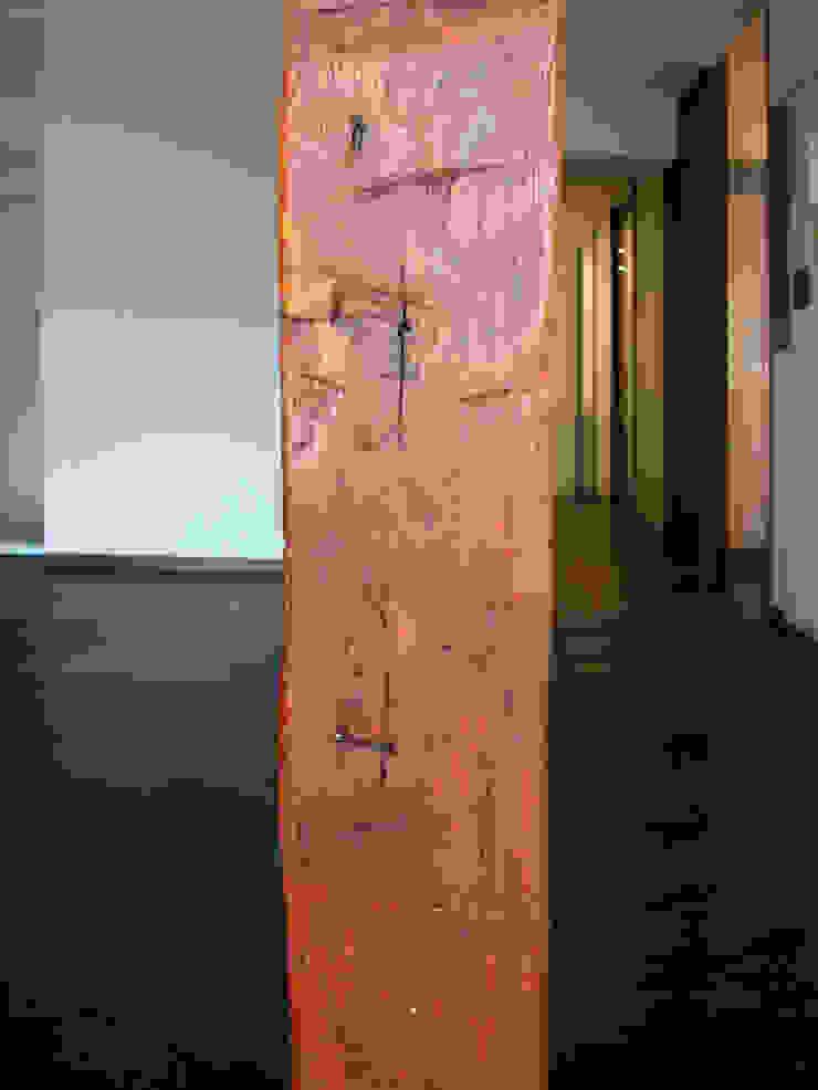 オーク材をつかってマンションリフォーム モダンな 壁&床 の ユミラ建築設計室 モダン