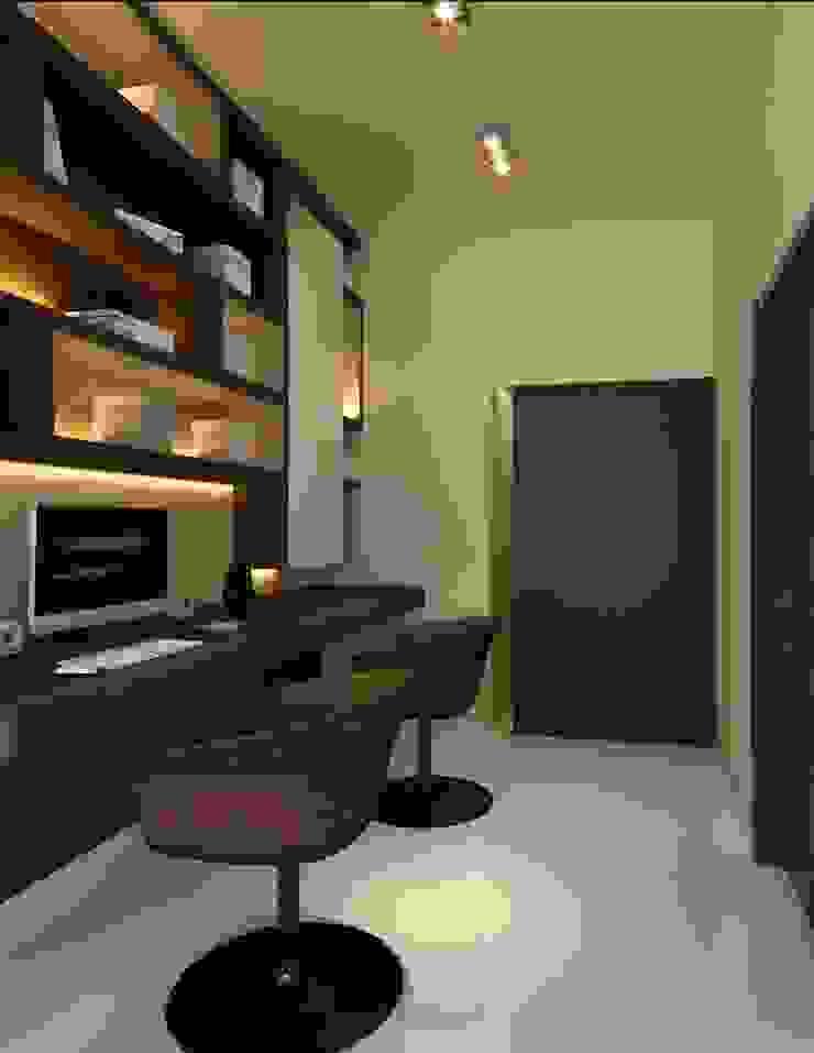 Dressing area | Ponderosa Green Minimalist bedroom by Honeywerkz Minimalist