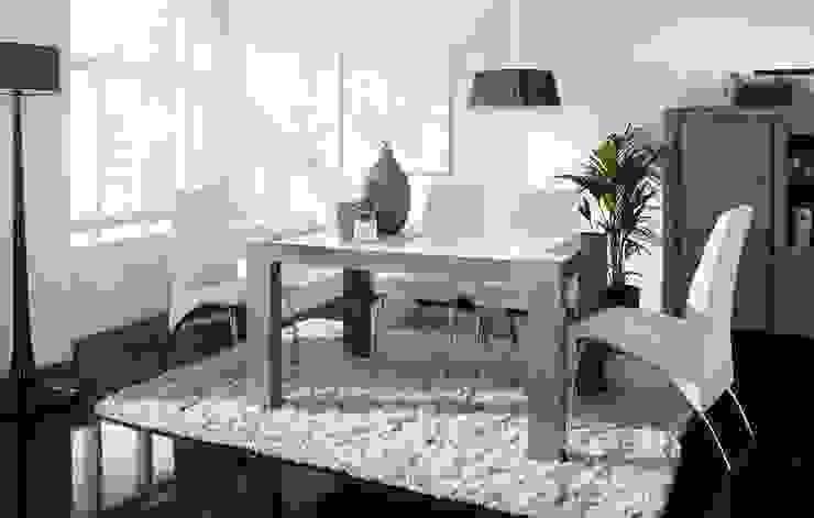 Mesa de Comedor Cristal Tokio de Ámbar Muebles Moderno