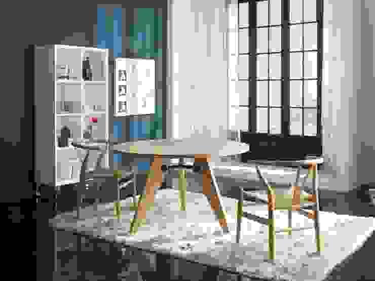 Mesa Comedor Moderna Francis de Ámbar Muebles Moderno