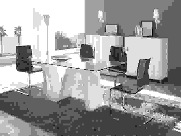 Mesa de Comedor Moderna Olas de Ámbar Muebles Moderno