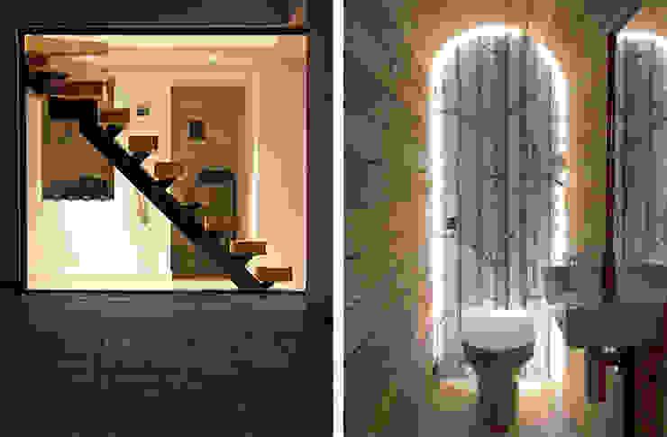 Headlands Cottage - Elements Modern corridor, hallway & stairs by Barc Architects Modern