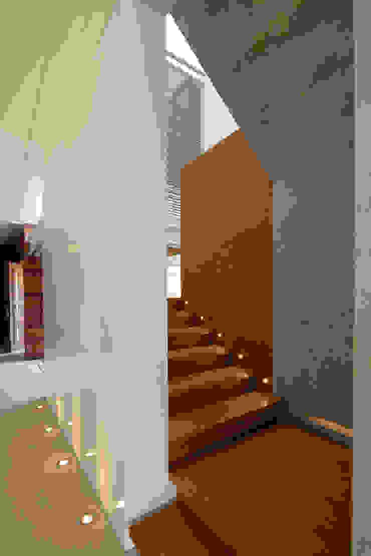 FF HOUSE Pasillos, vestíbulos y escaleras modernos de Hernandez Silva Arquitectos Moderno