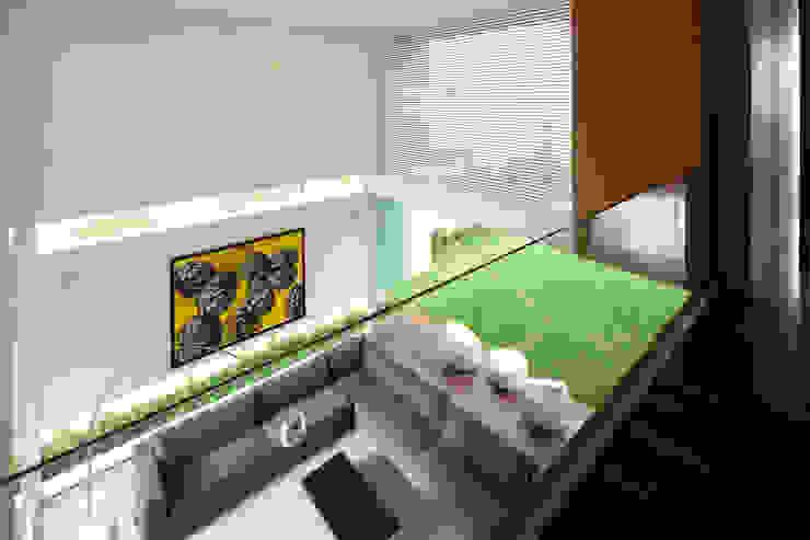 FF HOUSE: Salas de estilo  por Hernandez Silva Arquitectos, Moderno