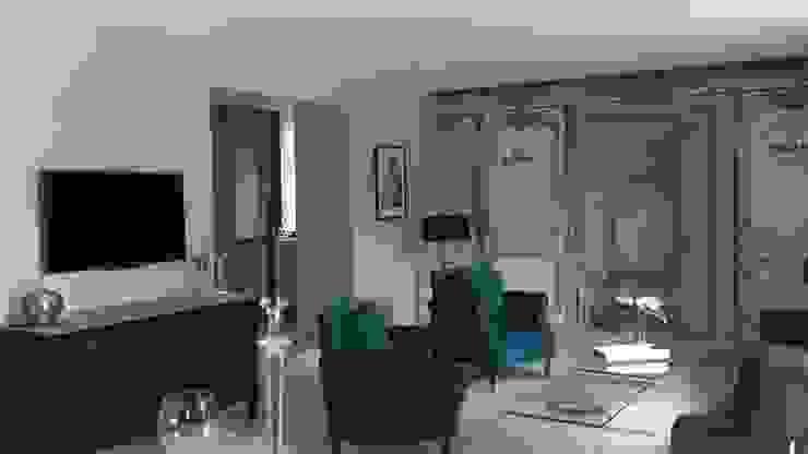 """Partie salon maison d'hôtes """" Pré Joly"""" Maisons originales par AZ Createur d'intérieur Éclectique"""