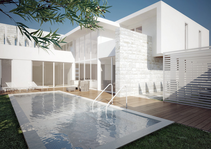Villa Orange di Orangeengineering Moderno