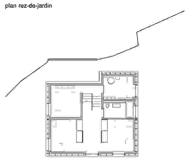 Nhà: thiết kế nội thất · bố trí · ảnh bởi bunqARCHITECTES