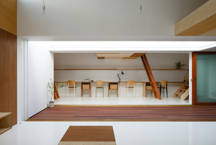 Idokoro Minimalst style study/office by ma-style architects Minimalist