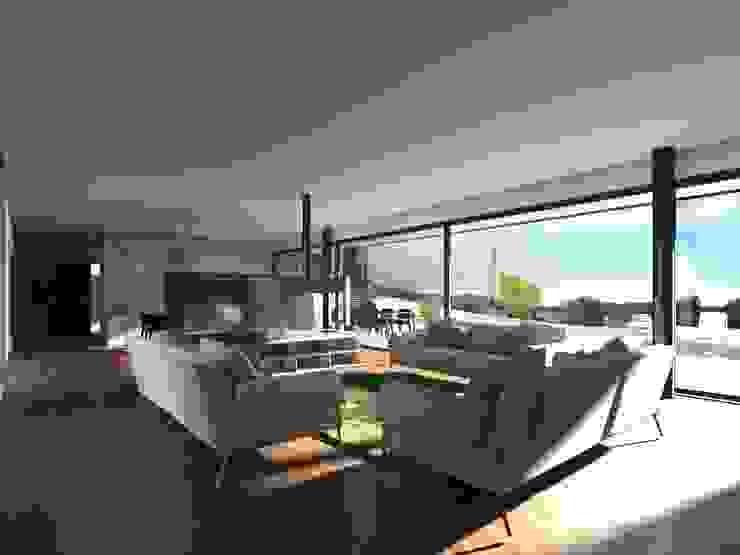 Vue du Salon par Atelier-RS Architecture Minimaliste