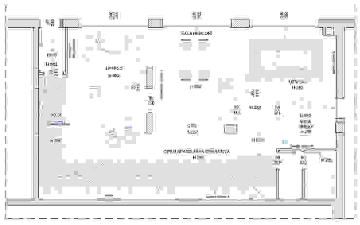 """""""Colours"""" Complesso d'uffici in stile eclettico di Studio Architetto Daniele Agostinelli Eclettico"""
