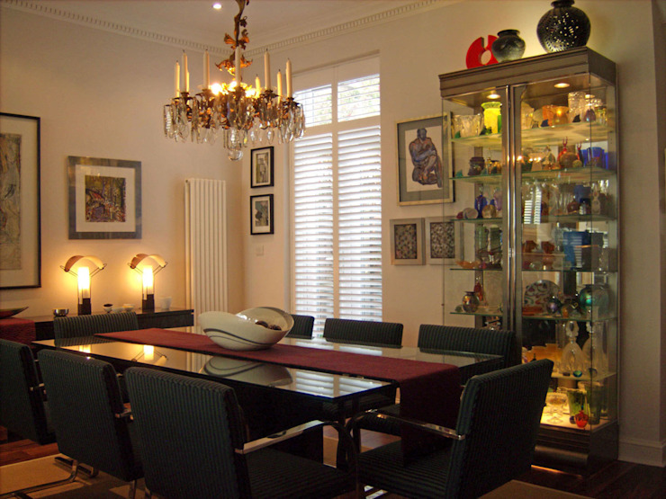 Victorian terrace house Dining Room Schema Studio Limited Modern Dining Room
