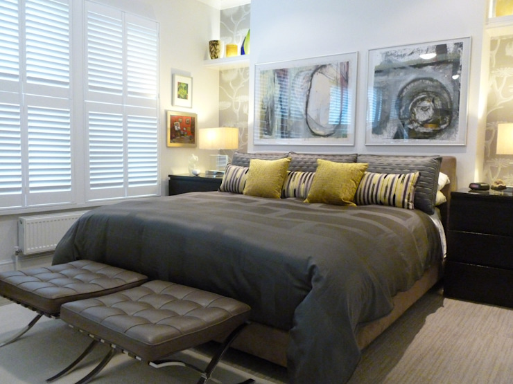 Victorian terrace house Modern style bedroom by Schema Studio Limited Modern