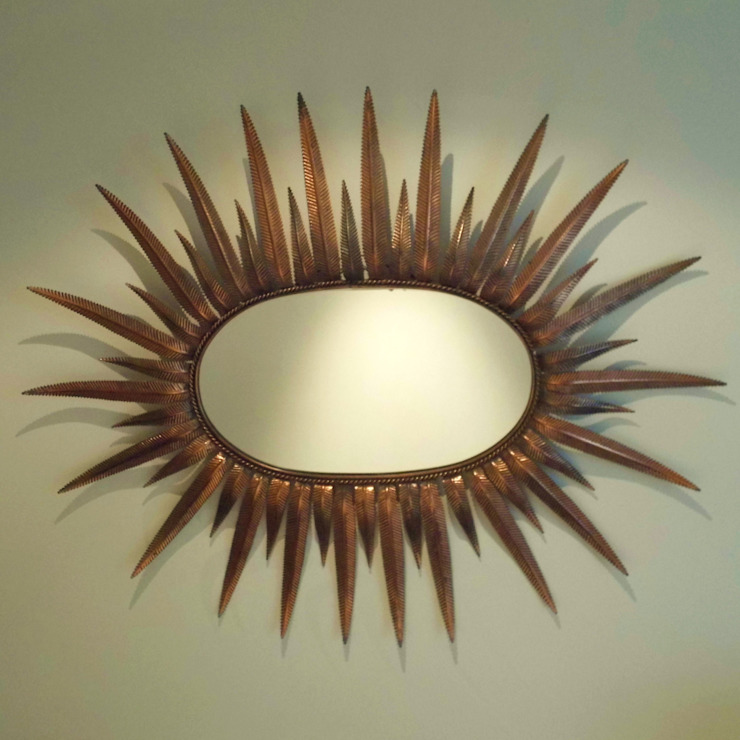 French Sunburst Mirror de Travers Antiques Moderno