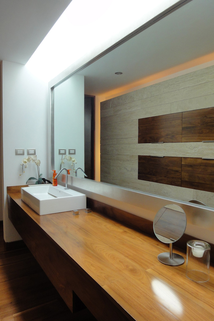 ze|arquitectura Modern style bathrooms