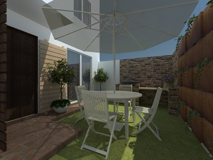 Projekty,  Ogród zaprojektowane przez JRK Diseño - Studio Arquitectura,