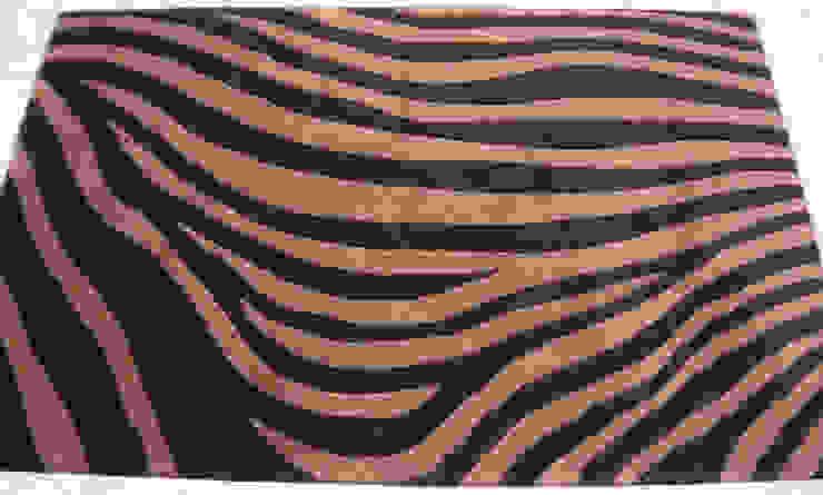 Zebra Stripes - Black /Brown: mediterranean  by Sterling Rugs,Mediterranean