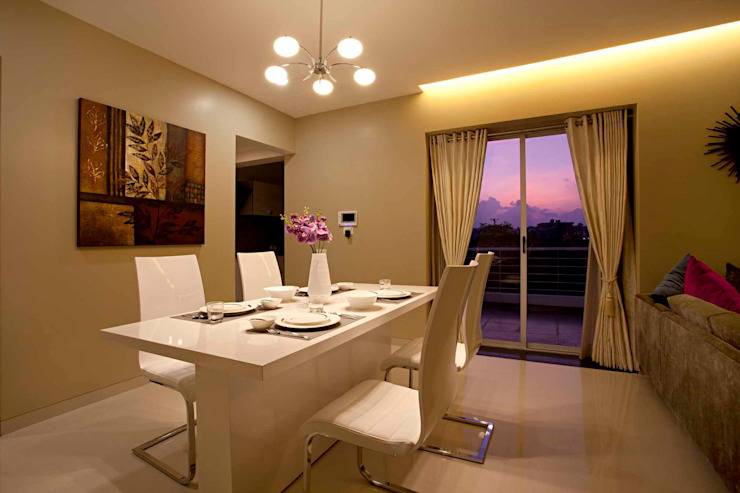 dining area: modern  by Design Ecovation,Modern