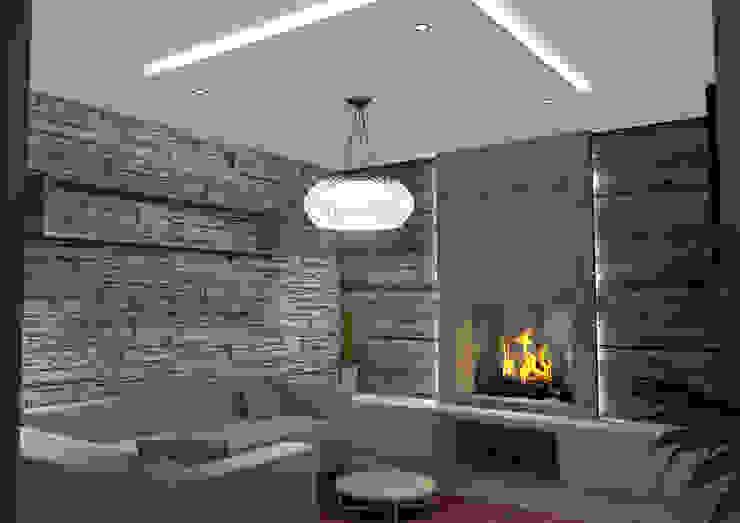 Abitazione Privata Soggiorno moderno di Masi Interior Design di Masiero Matteo Moderno