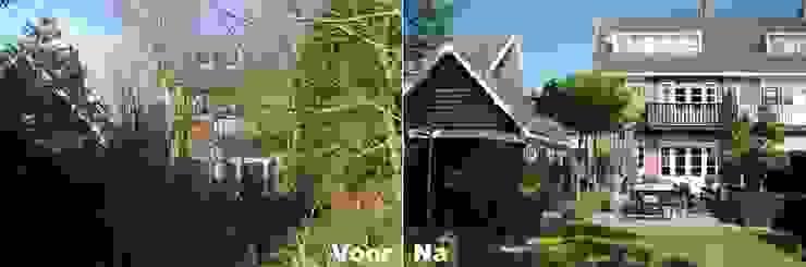 Voor & Na tuin in Heemstede: modern  door Biesot, Modern