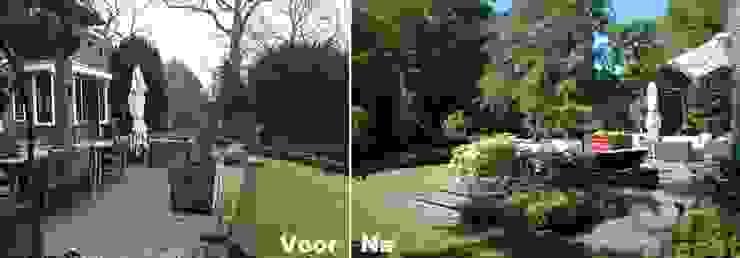 Voor & Na tuin in Bloemendaal: modern  door Biesot, Modern
