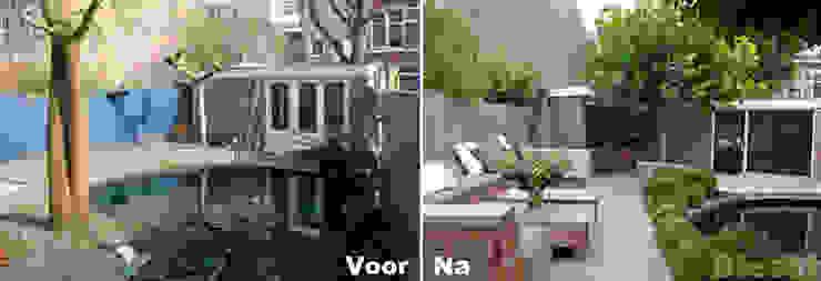 Voor & Na tuin in Haarlem: modern  door Biesot, Modern